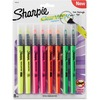 Sharpie Clear View Highlighter - Fine Marker Point - Chisel Marker Point Style - Assorted - 8 / Pack