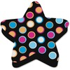 Ashley Color Dot Magnetic Whiteboard Eraser - Used as Mark Remover - Magnetic, Lightweight - Multicolor, Black - 1Each