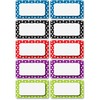 """Ashley Dotted Dry Erase Nameplate Magnets - (Rectangle) Shape - Magnetic - Dotted - Write on/Wipe off - 2.25"""" Height - Multicolor - 10 / Pack"""