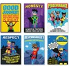 "Creative Teaching Press Superhero InspireU Posters - 13.4"" Width x 13"" Height - Superhero Character - Multicolor"