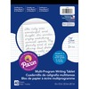 """Pacon Multi-program Handwriting Tablet - 40 Sheets - Both Side Ruling Surface - Dotted, Short Way Ruled - 0.50"""" Ruled - 8"""" x 10 1/2"""" - White Paper - C"""