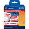 "Brother DK2251 - Black/Red on White Continuous Length Paper Labels - 2.40"" Width x 50 ft Length - White - Paper"