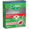 "Curad Blood Stop Gauze Packets - 1"" x 1"" - 10/Box - 10 Per Box - White"