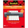 "Scotch Thermal Laminating Pouches - Sheet Size Supported: Letter 8.50"" Width x 11"" Length - Laminating Pouch/Sheet Size: 8.90"" Width5 mil Thickness -"