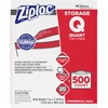 Ziploc® Seal Top Quart Storage Bags - Medium Size - 1 quart - x 1.75 mil (44 Micron) Thickness - Clear - 500/Carton - 500 Per Box - Food