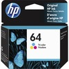 HP 64 (N9J89AN) Ink Cartridge - Tri-color - Inkjet - 165 Pages - 1 Each