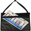 "C-Line License Plate Holder - Support 13"" x 8.50"" Media - 9.3"" x 14"" - Vinyl - 1 Each - Clear, Black, Black"