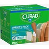 Curad Variety Pack 4-sided Seal Bandages - 200/Box - Assorted - Fabric, Plastic