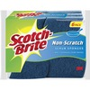 "Scotch-Brite Non-Scratch Scrub Sponges - 0.8"" Height x 4.3"" Width x 2.8"" Depth - 6/Pack - Blue"