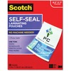 "Scotch Self-Seal Laminating Pouches - Sheet Size Supported: Letter - Laminating Pouch/Sheet Size: 9"" Width x 11.50"" Length x 9.50 mil Thickness - Thic"