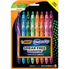 BIC America Gel-ocity Retractable Pen - Medium Pen Point - 0.7 mm Pen Point Size - RetractableGel-based Ink - 8 / Pack