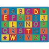 "Flagship Carpets Cheerful Alphabet Classroom Rug - 100"" Length x 72"" Width x 0.50"" Thickness - Rectangle - Multicolor"
