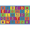 "Flagship Carpets Cheerful Alphabet Classroom Rug - 12 ft Length x 90"" Width x 0.50"" Thickness - Rectangle - Multicolor"