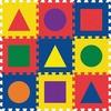 """Pacon WonderFoam Shapes Carpet Tiles - 12"""" Length x 12"""" Width - Square - Assorted - Foam"""