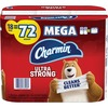 Charmin Mega Roll Bath Tissue - 2 Ply - 286 Sheets/Roll - White - Paper - Strong, Textured, Absorbent, Clog-free, Long Lasting, Septic Safe - For Wash