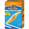 "BIC Wite-Out Exact Liner Correction Tape - 0.20"" Width x 19.80 ft Length - White Tape - Comfortable, Easy to Use, Odorless - 10 / Box"