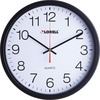"Lorell 12-1/2"" Slimline Wall Clock - Analog - Quartz"