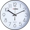 "Lorell 12"" Quiet Wall Clock - Analog - Quartz - Black"