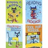"""Teacher Created Resources Pete the Cat Posters Set - """"Reading is Groovy!, Reading Rocks!, Rocking in My School Shoes, Cool for School"""" - 13.4"""" Width x"""