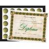 "Flipside Diploma/Graduation All-in-1 Set - 8.50"" x 11"" - Gold, Green, Black - Paper"