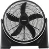 "Lorell 3-speed Box Fan - 20"" Diameter - 3 Speed - Tilt Adjustment, Lightweight - 24.2"" Height x 24.2"" Width x 7.2"" Depth - Plastic - Black"