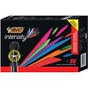 BIC Intensity Permanent Markers - Broad Marker Point - Chisel Marker Point Style - Black - 36 / Box