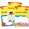 Trend Terrific Labels Friendly Faces Name Tags - Self-adhesive Adhesive - Rectangle - Multicolor - 108 / Pack