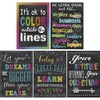 """Teacher Created Resources Chalkboard Brights Poster Set - 13.4"""" Width x 19"""" Height - Multicolor"""