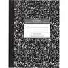 """Roaring Spring Signature Collection Wide Ruled Oversized Hard Cover Composition Book, 10.25"""" x 7.88"""" 80 Sheets, Black Marble - 80 Sheets - 160 Pages -"""