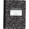 """Roaring Spring Case of 48 Composition Books, 80 sheets of 15# Smooth White Paper, 9.75""""x7.5"""" , Black Marble Cover, Wide Ruled W/ Margin - 80 Sheets -"""