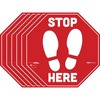 "Tabbies BeSafe STOP HERE Messaging Carpet Decals - 6 / Pack - STOP HERE Print/Message - 12"" Width x 12"" Height - Square Shape - Easy Readability, Remo"