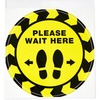 Avery® Floor Decal - 5 - PLEASE WAIT HERE Print/Message - Round Shape - Pre-printed, Tear Resistant, Wear Resistant, Non-slip, Water Resistant, UV