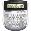 "Texas Instruments TI1795 Angled SuperView Calculator - Dual Power, Sign Change, Angled Display - 8 Digits - LCD - Battery/Solar Powered - 1"" x 4.3"" x"