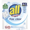 Dial All Free Clear Mightypacs Laundry Pods - Pod - 39 / Pack - Clear