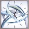 Lorell Green Lines Decorative Wall Clock - Analog - Quartz - Wood Case