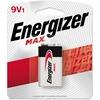 Energizer MAX Alkaline 9 Volt Batteries, 1 Pack - For Multipurpose - 9V - 9 V DC - 595 mAh - Alkaline - 1 Pack