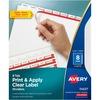 "Avery® Print & Apply Clear Label Dividers - Index Maker Easy Apply Label Strip - 40 x Divider(s) - 8 Tab(s)/Set - 8.5"" Divider Width x 11"" Divider"