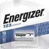 Energizer 123 Batteries, 1 Pack - For Camera - 3 V DC - 1300 mAh - Lithium (Li)