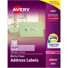 """Avery® Address Labels, Sure Feed, 1"""" x 4"""" , 1,000 Clear Labels (5661) - Permanent Adhesive - Rectangle - Laser - Clear - Film - 20 / Sheet - 50 To"""