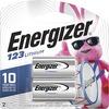 Energizer 123 Batteries, 2 Pack - For Camera - 3 V DC - 2 / Pack