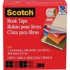 "Scotch Book Tape - 15 yd Length x 1.50"" Width - 3"" Core - Acrylic - 1 Roll - Clear"