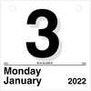 "At-A-Glance ""Today Is"" Daily Wall Calendar Refill - Julian Dates - Daily - 1 Year - January 2021 till December 2021 - 1 Day Single Page Layout - 6"" x"