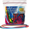 "Alliance Rubber Brites 07800 File Bands - Non-Latex Colored Elastic Bands - 7"" x 1/8"" - 50 Pack - Pink, Blue and Orange - Resealable Bag"