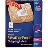 "Avery® Waterproof Labels, Sure Feed, 3-1/3"" x 4"" , 300 Labels (5524) - Permanent Adhesive - Rectangle - Laser - White - Film - 6 / Sheet - 50 Tota"