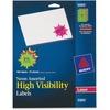 "Avery® Neon Address Labels, Sure Feed, 2-1/4"" , 180 Labels (5995) - 2 1/4"" Diameter - Burst - Laser - Neon Magenta, Neon Green, Neon Yellow - Pape"