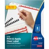 "Avery® Print & Apply Label Unpunched Dividers - Index Maker Easy Apply Label Strip - 40 x Divider(s) - 8 Blank Tab(s) - 8 Tab(s)/Set - 8.5"" Divide"