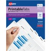 "Avery® Printable Repositionable Tabs, 1-1/4"" , White, 96 Tabs (16280) - 96 Print-on Tab(s)1.25"" Tab Width - Self-adhesive, Removable - White Divid"