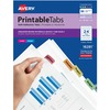"Avery® Printable Repositionable Tabs, 1-1/4"" , Assorted, 96 Tabs (16281) - Print-on Tab(s) - 96 Tab(s)/Set1.25"" Tab Width - Self-adhesive, Removab"
