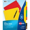 AVE23084-Avery Plastic Tab Dividers W/Labels-Tab Indexes at Sale