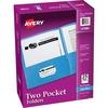 "Avery® Two Pocket Folders, Holds up to 40 Sheets, 25 Blue Folders (47986) - Letter - 8 1/2"" x 11"" Sheet Size - 40 Sheet Capacity - 2 Pocket(s) - E"